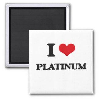 I Love Platinum Magnet