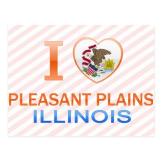 I Love Pleasant Plains, IL Postcards