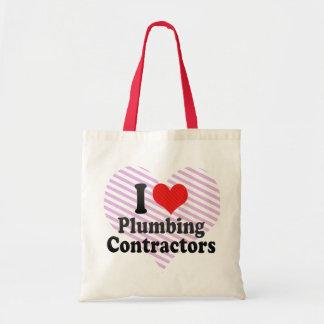 I Love Plumbing Contractors Bag