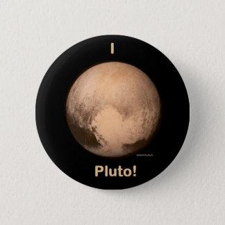 I love Pluto! 6 Cm Round Badge