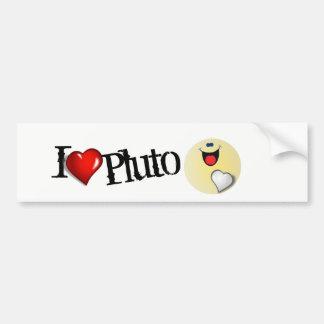 I love Pluto Bumper Sticker