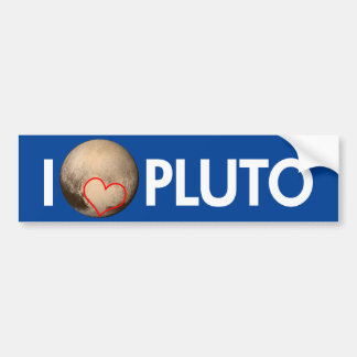 I Love Pluto Bumper Sticker
