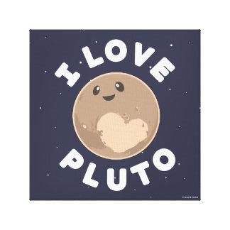 I Love Pluto Canvas Print