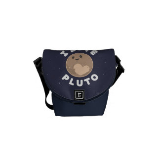 I Love Pluto Courier Bag