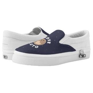I Love Pluto Printed Shoes