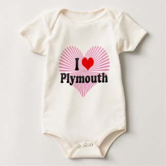 I Love Plymouth, United Kingdom Baby Bodysuit