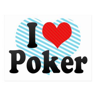 I Love Poker Post Cards