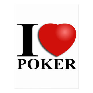 I Love Poker Postcard
