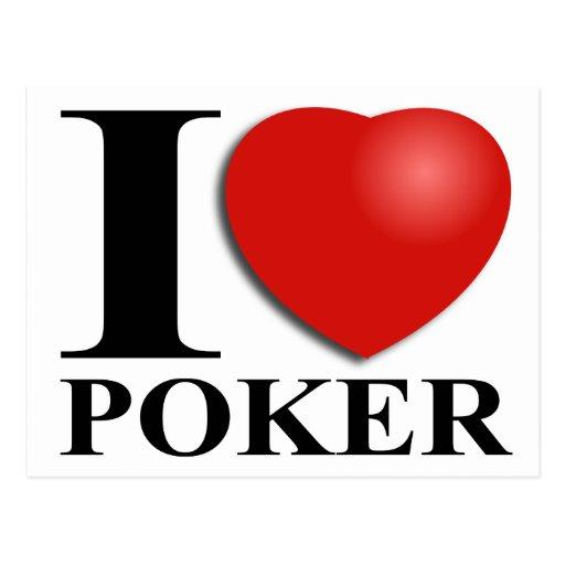 I Love Poker Post Card