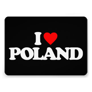 I LOVE POLAND PERSONALIZED ANNOUNCEMENTS