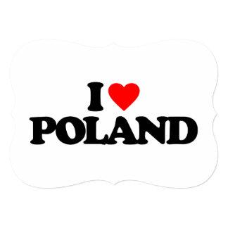 I LOVE POLAND 13 CM X 18 CM INVITATION CARD