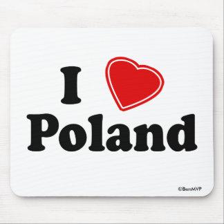 I Love Poland Mouse Pad