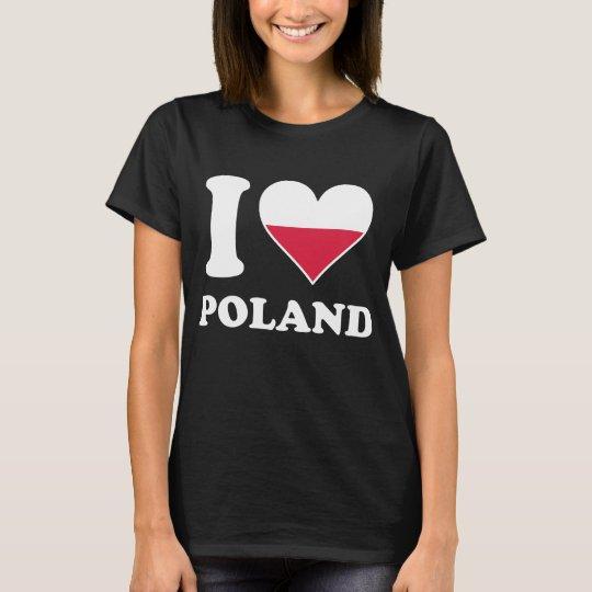 I Love Poland Polish Flag Heart T-Shirt