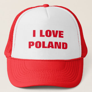 I LOVE POLAND TRUCKER HAT