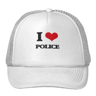 I Love Police Trucker Hat