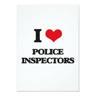 "I love Police Inspectors 5"" X 7"" Invitation Card"