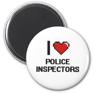 I love Police Inspectors 2 Inch Round Magnet