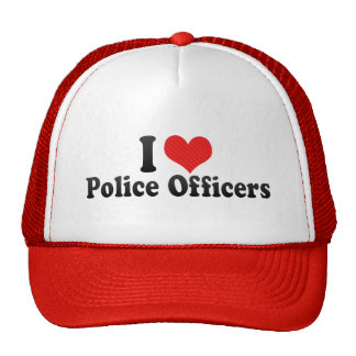 I Love Police Officers Hats