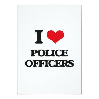 "I Love Police Officers 5"" X 7"" Invitation Card"