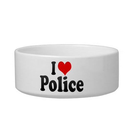 I love Police Pet Bowl