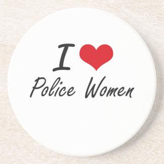 I love Police Women Coasters