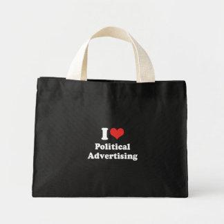 I LOVE POLITICAL ADVERTISIN - .png Tote Bag