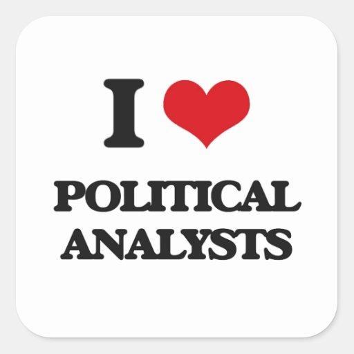 I love Political Analysts Sticker
