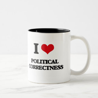 I Love Political Correctness Two-Tone Mug