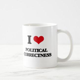 I Love Political Correctness Basic White Mug