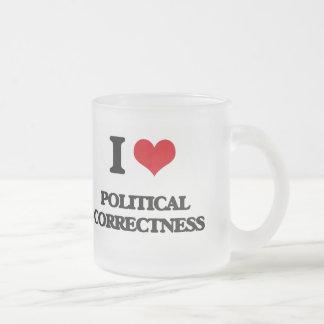 I Love Political Correctness Frosted Glass Mug
