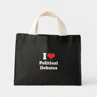 I LOVE POLITICAL DEBATES - .png Tote Bags