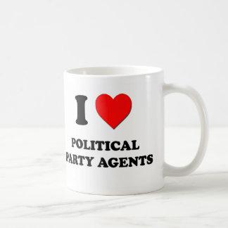 I Love Political Party Agents Coffee Mug