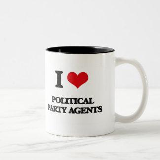 I love Political Party Agents Mug