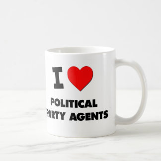 I Love Political Party Agents Mugs