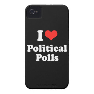 I LOVE POLITICAL POLLS.png iPhone 4 Cases