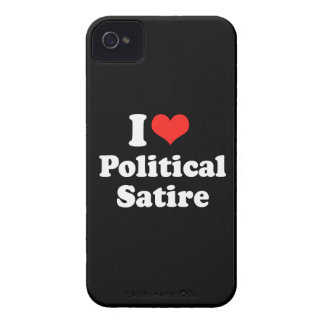 I LOVE POLITICAL SATIRE.png iPhone 4 Cover