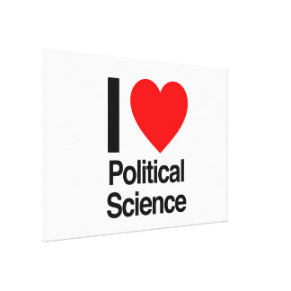 i love political science stretched canvas prints