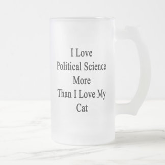 I Love Political Science More Than I Love My Cat Frosted Glass Mug