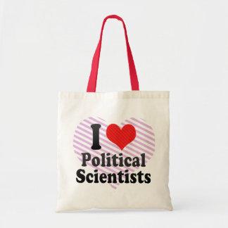 I Love Political Scientists Canvas Bag