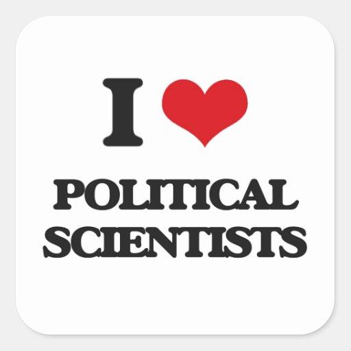 I love Political Scientists Square Stickers