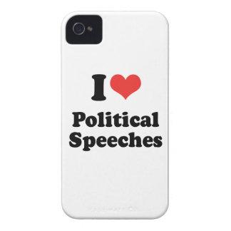 I LOVE POLITICAL SPEECHES - png Case-Mate Blackberry Case