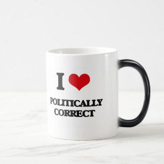 I Love Politically Correct Morphing Mug