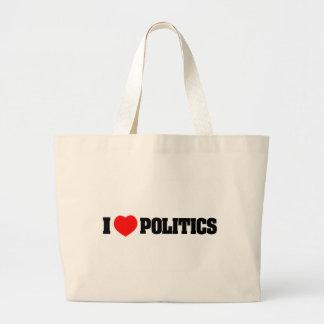 I Love Politics Canvas Bags