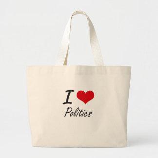 I Love Politics Jumbo Tote Bag