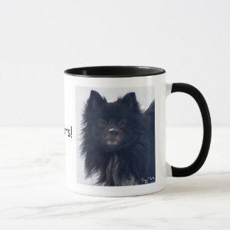 """ I LOVE Pomeranians!"" Watercolor Painting  Mug"