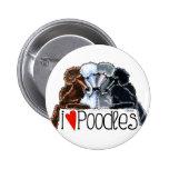 I Love Poodles Badge