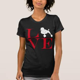 I Love Poodles - Dark Colored Tee