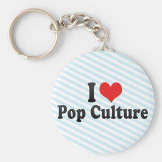 I Love Pop Culture Keychain