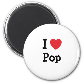 I love Pop heart custom personalized Magnets