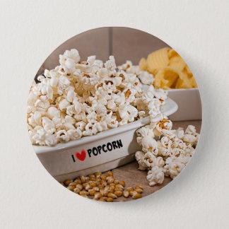 I Love Popcorn 7.5 Cm Round Badge